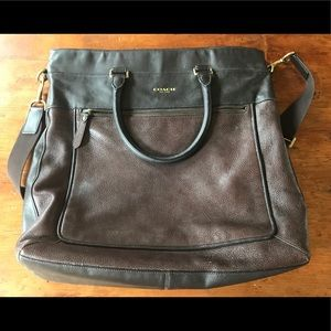 Coach Bags - Leather Coach Laptop or Crossbody Bag